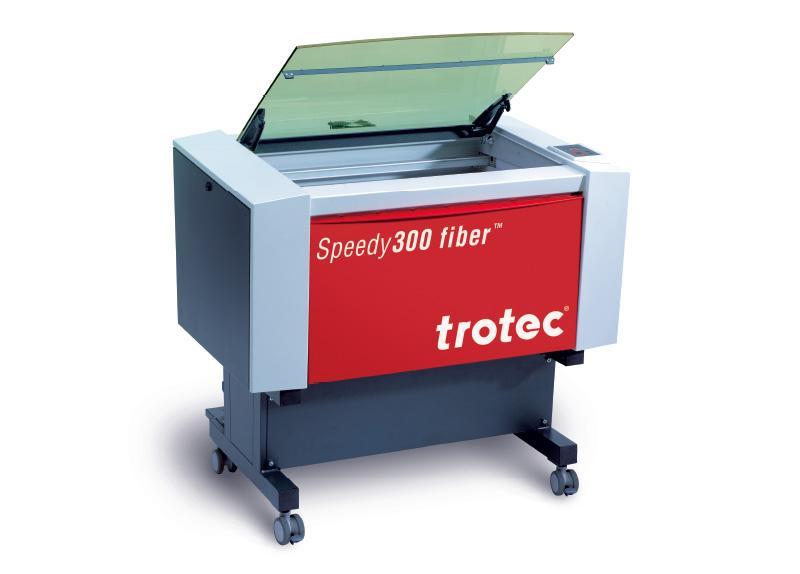 Speedy 300 laserski stroj z odprtim pokrovom