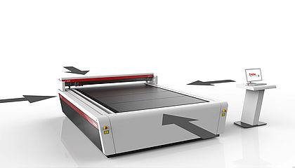 Dostop iz vseh strani za laserski rezalnik SP