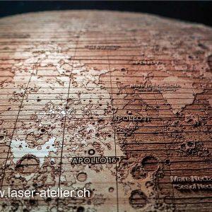 Gravirana površina lune