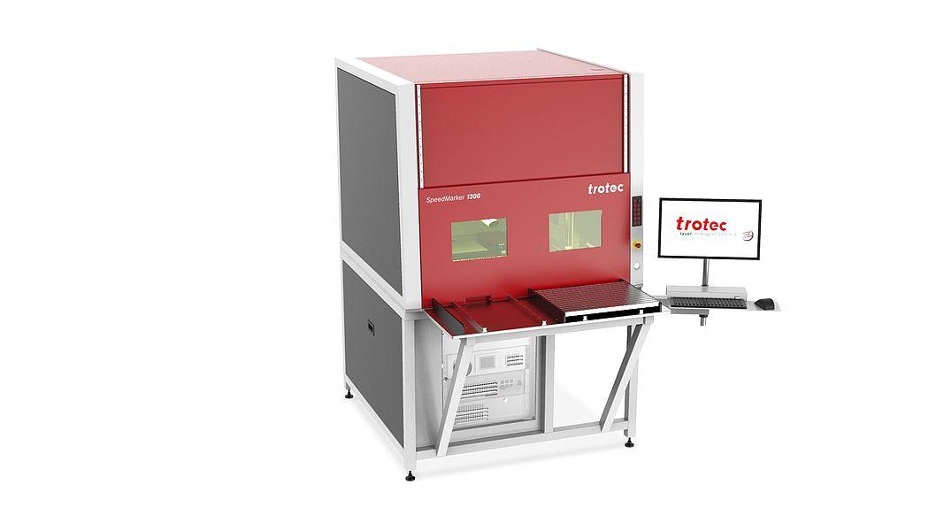 Laserska delovna postaja SpeedMarker 1300 xl z izvlečno dvojno mizo