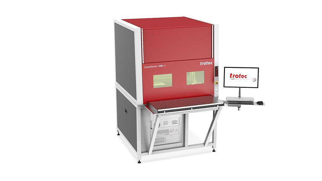 Laserska delovna postaja SpeedMarker 1300xl z izvlečno mizo
