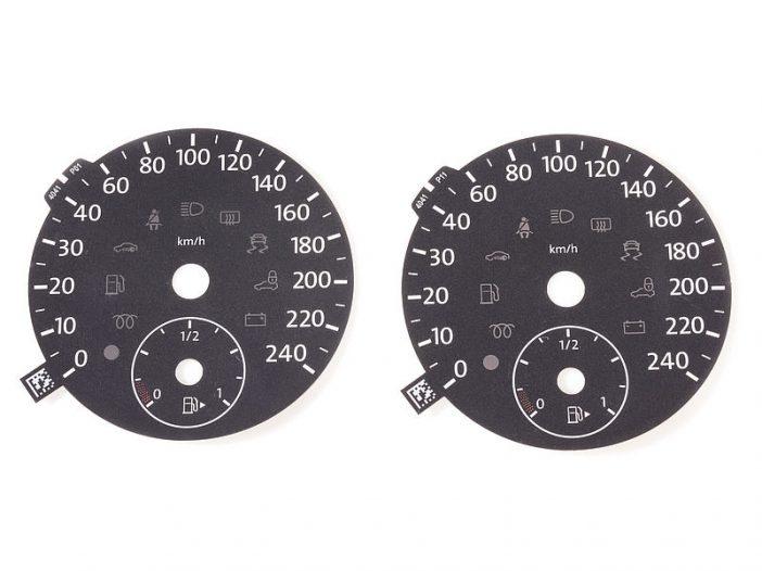 Lasersko označevanje merilnika hitrosti