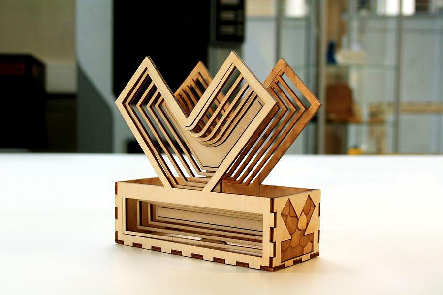 Laserski razrez lesene škatle